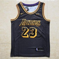 LA Lakers #23 LeBron James Black Basketball Jersey