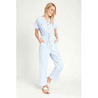 Andree by Unit Striped Jumpsuit