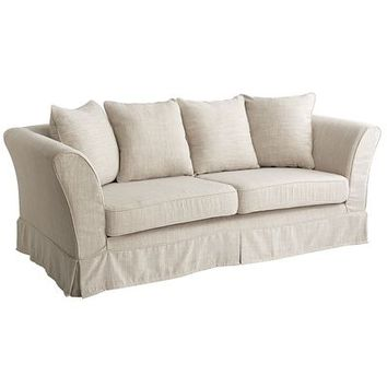 Portia Slipcovered Sofa - Flax