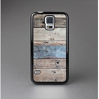 The Multicolored Tinted Wooden Planks Skin-Sert Case for the Samsung Galaxy S5