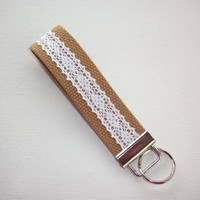 Lace Key FOB / KeyChain / Wristlet  - Lace on your choice of webbing - design your own - custom - personalize