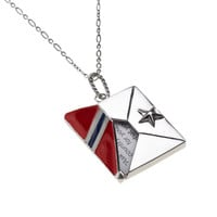 The U.S. Military Star Guard Envelope Sterling Silver Necklace