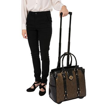 """""""THE CLEOPATRA"""" Rolling iPad, Tablet, or """"15.6"""" Laptop Holdall Tote Bag"""
