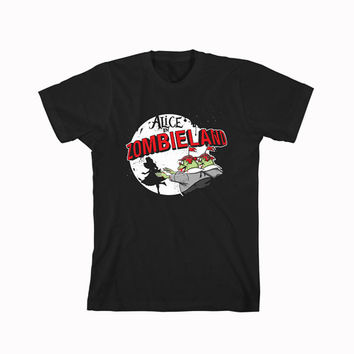 alice in wonderland Alice In Zombieland For T-Shirt Unisex Aduls size S-2XL