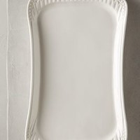 Ceres Platter by Anthropologie in White Size:
