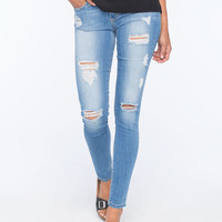 Flying Monkey Destructed Womens Skinny Jeans Medium Blast  In Sizes