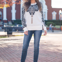Picture Me In Lace Sweater, Ivory
