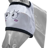 Saddles Tack Horse Supplies - ChickSaddlery.com Showman Pretty Girl Blushing Funny Face Fly Mask <>
