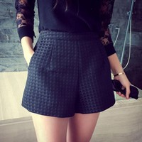 High-waisted  Casual  Shorts
