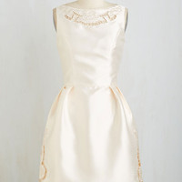 Vintage Inspired Mid-length Sleeveless Fit & Flare Just the Two of Lush Dress