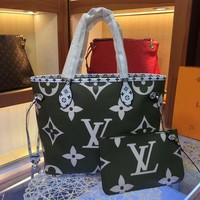 Louis Vuitton LV Women Fashion Leather Handbag Shoulder Bag Two-Piece