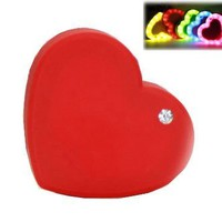 NECKPHONE 6000Mah Love Heart Shape Led Light Universal Mobile Power Bank General Charger External Backup Battery Pack Smartphone Charging Treasure Expression Cute Portable Travel for iPhone 6 plus iPhone 5 5S 5C 4S 4 iPad Air 4 3 2 Mini,Samsung Galaxy S5 S