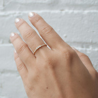 Three Diamond Equilibrium Ring - Catbird