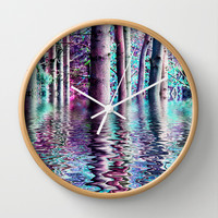 PEACE TREE-TY Wall Clock by catspaws
