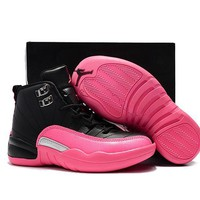 Kids Air Jordan 12 Retro Black/pink Sport Shoe Us 11c 3y | Best Deal Online