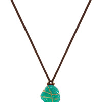 Love Her Madly Crystal Necklace - Teal