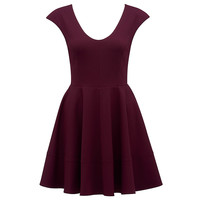 Kim ponte acolchoado manga skater dress - Forever New