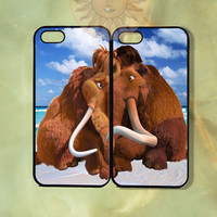 Manny and Ellie Couple Case-iPhone 5, iphone 4s, iphone 4, Samsung GS3, GS4 -Silicone Rubber or Hard Plastic Case, Phone cover