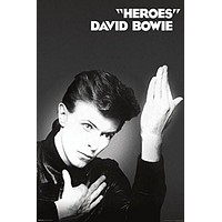 (24x36) David Bowie Heroes Music Poster Print