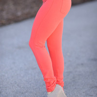 Perfect Fit Jeggings Coral