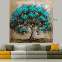 Hand Made Tree Canvas Wall Art