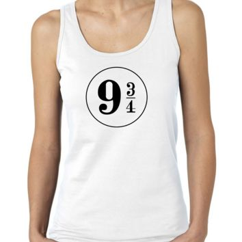 Hogwarts Express at King's Cross Station Platform 9 3/4 Ladies or Mens Tank Top, Nerd Girl Tees