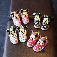 davidyue led children girls kids shoes  shinning boots baby glowing LED kids sneakers lighting baby Hook^Loop shoes girls