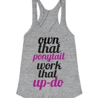 Own That-Female Athletic Grey T-Shirt