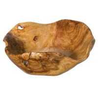 Threshold™ Natural Root Wood Bowl - Medium