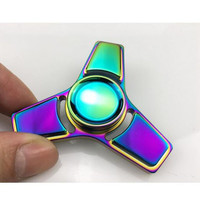 Free shipping !Colorful Aluminum Alloy Stress Spinner Hand Spinner Metal and ADHD handspinner EDC Tri-Spinner Metal Fidget Spinner Toy