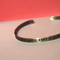 Custom Quote Antique Brass Cuff (Supernatural)