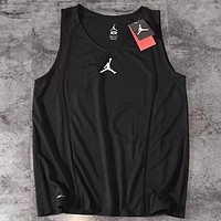 AIR JORDAN 2019 new men's basketball quick-drying fitness vest black