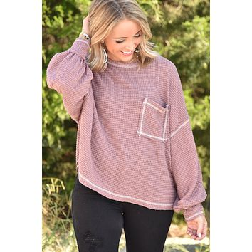 Stay With Me Top - Dusty Mauve