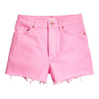 Frayed-hem Denim Shorts - from H&M