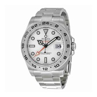 Rolex Explorer II White Dial Stainless Steel Rolex Oyster Automatic Mens Watch 216570WSO
