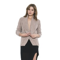 Womens Long Sleeve Nude Lara Pullover Sweater By One Grey Day