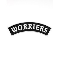 Worriers Large Back Patch - Black/White