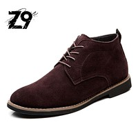 2016 winter boots men flats supper warm ankle high shoes Fur and Pu lining real leather comfortable top quality
