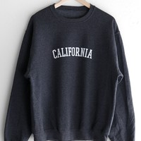 California Oversized Sweatshirt - Dark Heather Grey