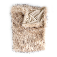 Lynx Multi faux fur fiber Throw