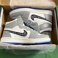Dior x Nike Air Jordan 1 high-top sneakers basketball shoes