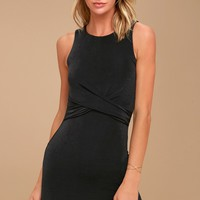 More than a Dream Charcoal Grey Sleeveless Bodycon Dress