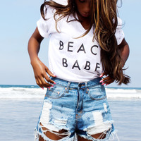 Beach Babe Sunset VNeck