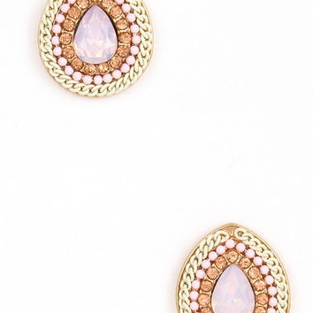 New Sparkle Studs in Pink