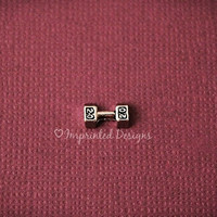 Barbell Locket Charm - Exercise Floating Charm - Fitness Floating Charm