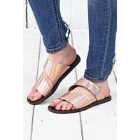 Real Deel Iridescent Slide On Sandals {Solar Pisa}