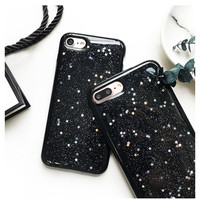 Tide Glitter Bling Star Case For iPhone 7 Case For iPhone7 6 6S PLus Luxury Starry Sky Soft TPU Love Back Cover  -Girllove100