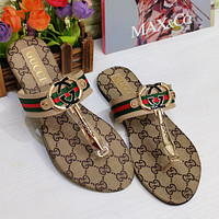 Gucci GG Women's Double G Letter Slippers Sandals Shoes