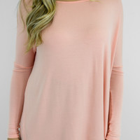 Time Well Wasted Blush Long Sleeve Top