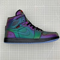 Air Jordan 1 High Zoom R2T AJ1 High Top 3M Reflective Chameleon Sneakers Shoes